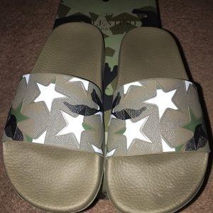 Valentino camouflage slides